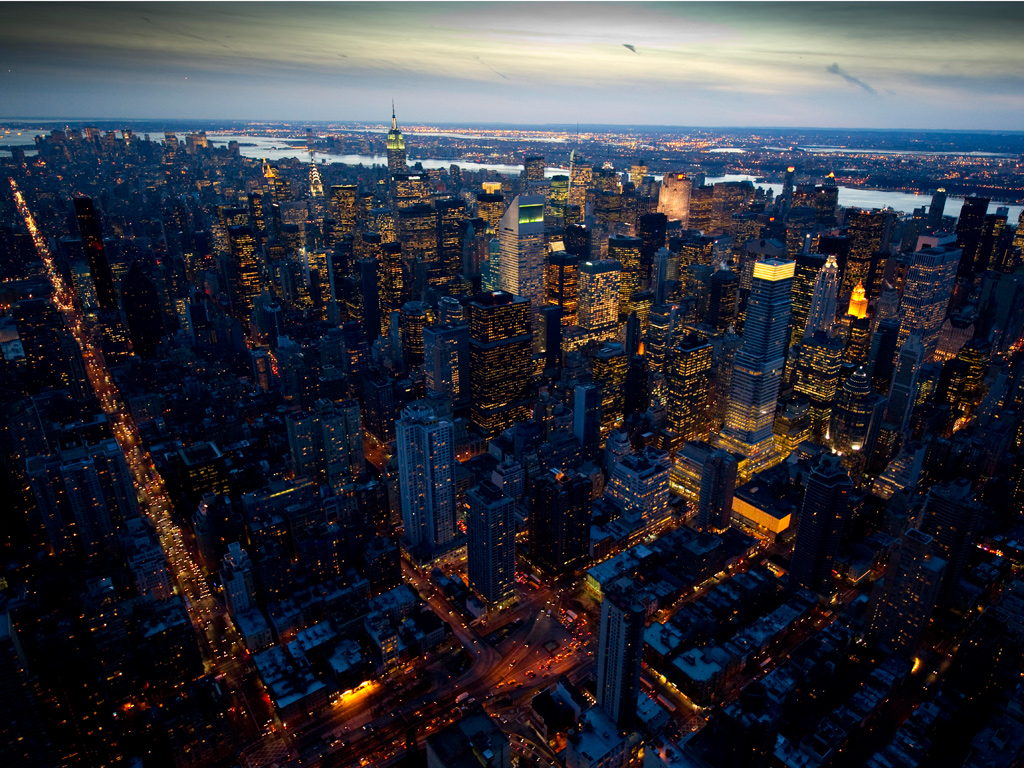 for a book, New York at Night by British photographer Jason Hawkes